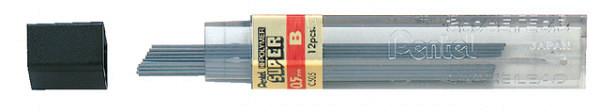 Potloodstift Pentel 0.5mm zwart per koker B