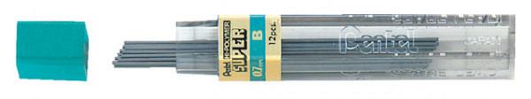 Potloodstift Pentel 0.7mm zwart per koker B