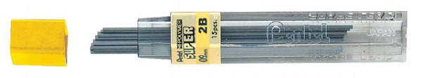Potloodstift Pentel 0.9mm zwart per koker 2B
