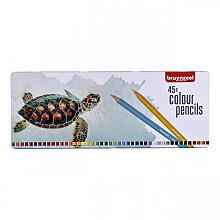 Kleurpotloden Bruynzeel schildpad blik à 45 stuks assorti