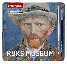 Kleurpotloden Bruynzeel aquarel  Van Gogh blik à 24 stuks assorti