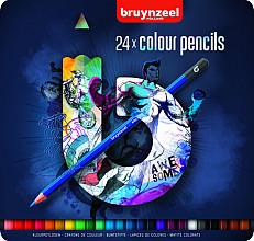 Kleurpotloden Bruynzeel Teens 24stuks blauw blik assorti