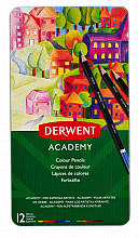 Kleurpotloden Derwent Academy blik à 12 stuks assorti