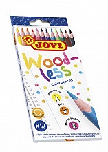 Kleurpotlood Jovi triangle houtvrij set à 12 kleuren ass