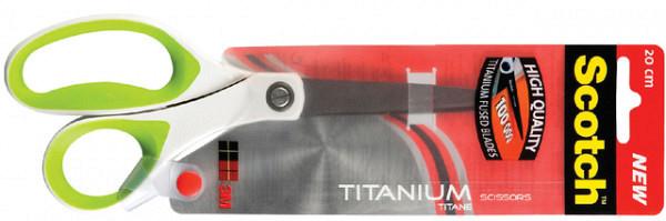 Schaar Scotch 20cm titanium met groot oog blister