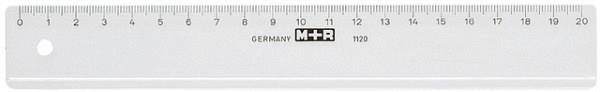 Liniaal M+R 1120 200mm plastic transparant
