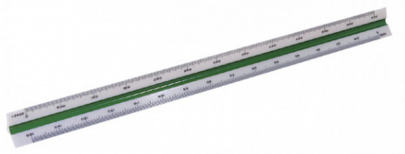 Schaalstok M+R 1637 1:500/1000/1250/1500/2000/2500