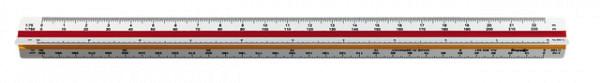 Reductieschaalstok rOtring driekantig architect 30cm