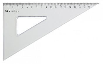 Driehoek Aristo 23620 200mm 30/60graden transparant