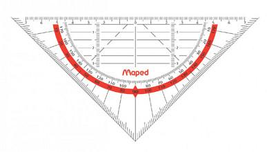 Geodriehoek Maped 028600 160mm flexibel transparant