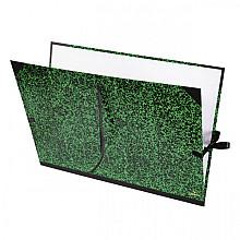 Tekenmap Canson 78x115cm kleur groen annonay sluiting met linten