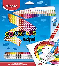 Kleurpotloden Maped uitwisbaar blister à 24 stuks ass