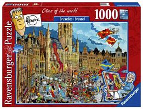Puzzel Ravensburger Fleroux Brussel 1000 stukjes