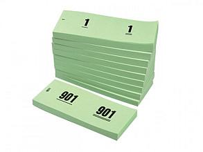 Nummerblok 42x105mm nummering 1-1000 groen 10 stuks