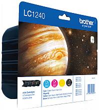 Inktcartridge Brother LC-1240VALBP zwart + 3 kleuren
