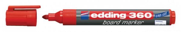 Viltstift edding 360 whiteboard rond rood 3mm