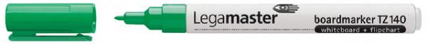 Viltstift Legamaster TZ140 whiteboard rond groen 1mm