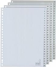 Tabbladen Kangaro 23-gaats G4100CM 1-100 genummerd grijs PP