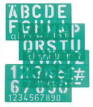 Lettersjabloon Linex 50mm hoofdletters/letters/cijfers