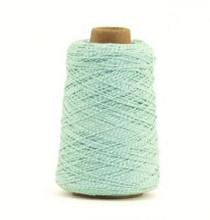 Cotton Cord Twist/ Katoen touw 500 meter mint/wit ø2mm