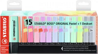 Markeerstift Stabilo Boss Original 7015-02-5 desk pastel ass