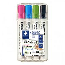 Viltstift Staedtler Lumocolor 351 whiteboard set à 4 stuks assorti