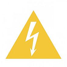 Pictogram Tarifold waarschuwing elektrische spanning 150x133mm