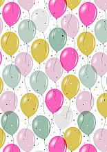 Cadeaupapier 30cm K601930-30 confetti balloons 30cm