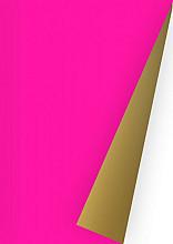 Cadeaupapier 30cm K642806-30 DS uni fluor pink/goud 30cm