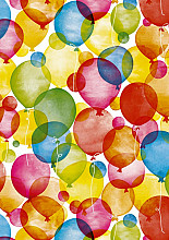 Cadeaupapier 50cm K601660-50 watercolour balloons 50cm