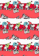 Cadeaupapier 50cm K601082/2-50 Zebra's Red 50cm
