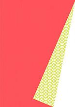 Cadeaupapier 50cm K601357/6-50 Raindrops Yellow/Red DZ 50cm