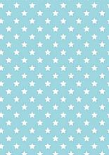 Cadeaupapier 50cm K601473/11-30/50 stars light blue 30cm