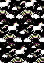 Cadeaupapier 50cm K601741/2-50 unicorn black 50cm