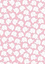 Cadeaupapier 50cm K601742/1-50 Babyfant Pink 50cm