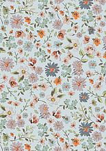 Cadeaupapier 50cm K601755/1-50 beautiful flowers blue 50cm
