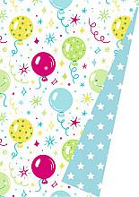 Cadeaupapier 30cm K602047/1-30 Balloonparty lichtblauw DZ 30cm