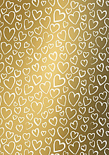 Cadeaupapier 30cm K602048/1-30 hearts gold 30cm