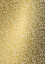 Cadeaupapier 50cm K602048/1-50 Hearts gold 50cm