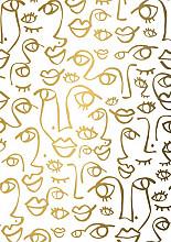 Cadeaupapier 50cm K602056/1-50 Faces gold 50cm