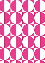 Cadeaupapier 30cm K60720/8-30 Semi Circle Pink 30cm