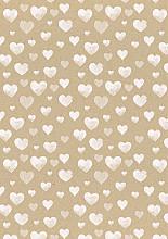 Cadeaupapier 50cm K102015/3-30 hearts white 30cm