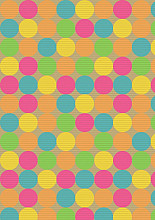 Cadeaupapier 50cm K40626/23-50 dots fluor 50 cm