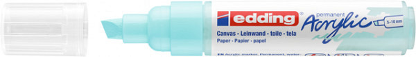 Acrylmarker edding e-5000 breed  pastel blauw