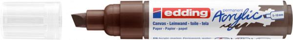 Acrylmarker edding e-5000 breed  chocoladebruin