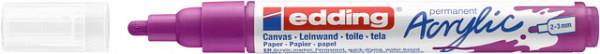 Acrylmarker edding e-5100 medium bessen rood