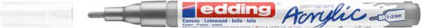 Acrylmarker edding e-5300 fijn zilver