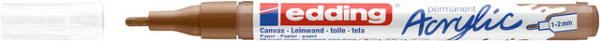 Acrylmarker edding e-5300 fijn hazelnoot