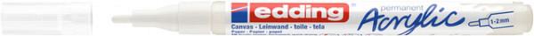 Acrylmarker edding e-5300 fijn verkeerswit
