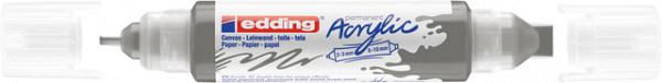 Acrylmarker edding e-5400 3D double liner antraciet